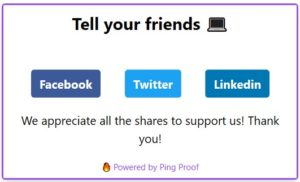 Ping Proof - Social Share
