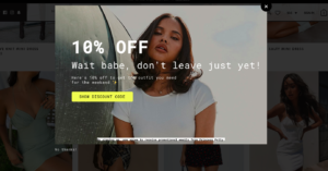 Exit-intent popup reduces bounce rate